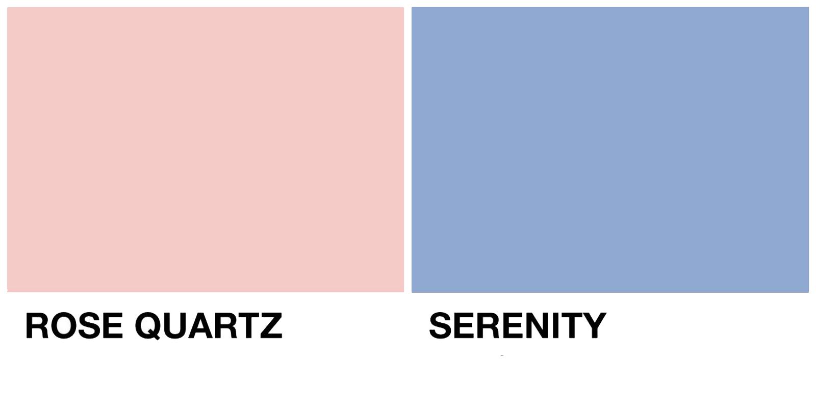 Rosa cuarzo y Azul serenity - Combina tu RopaCombina tu Ropa